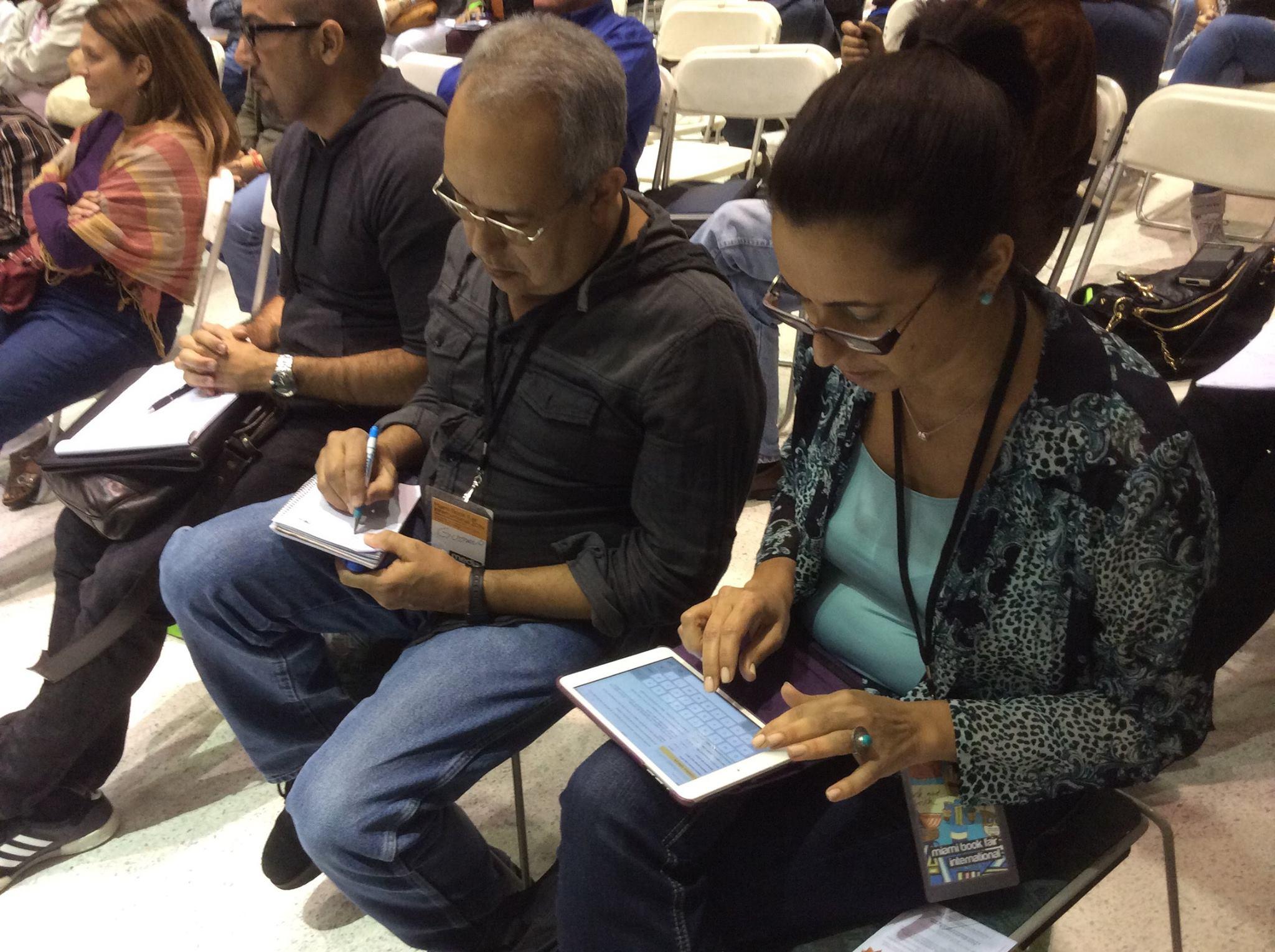 Seminario A leer en espanol. Fundacion Cuatrogatos Feria Internacional del Libro de Miami noviembre 2014