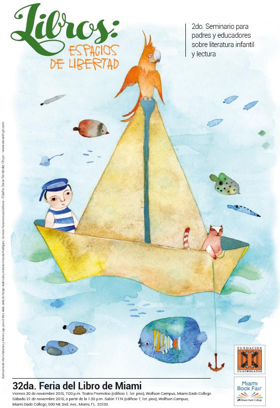 2dp Seminario de Literatuera Infantil Fundación Cuatrogatos Miami Book Fair 2015
