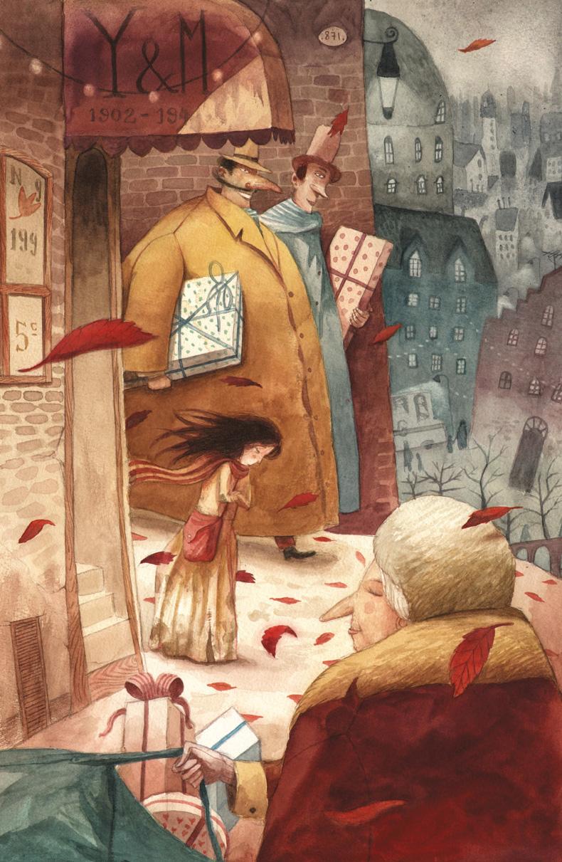 """Ilustración de José Sanabria para """"La Fosforerita""""."""