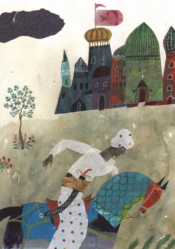 """Ilustración de José Sanabria pafra """"Huellas en la arena"""""""