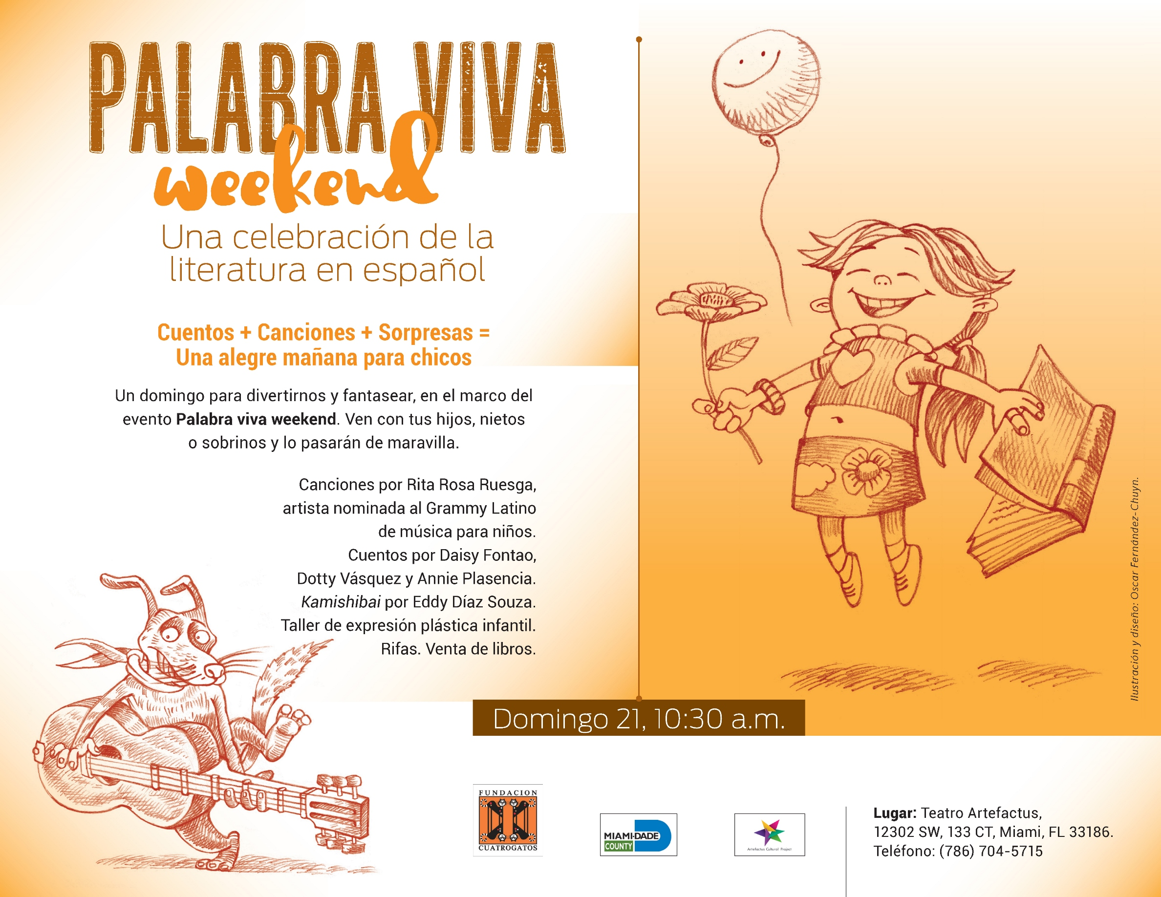 Flyer-Palabra viva evento infantil short